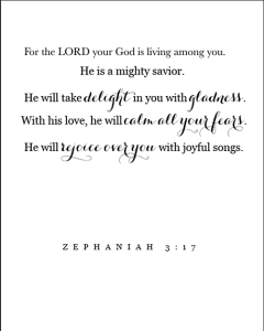 Zephania 3:17 Free Printable