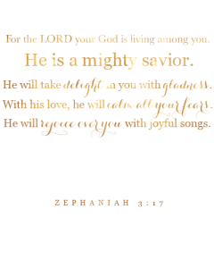 Zephaniah 3:17 gold printable